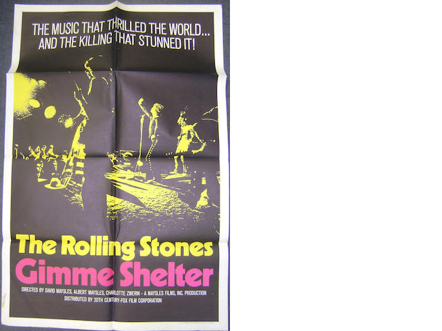 The Rolling Stones: Gimme Shelter, Twentieth Century Fox, 1970,