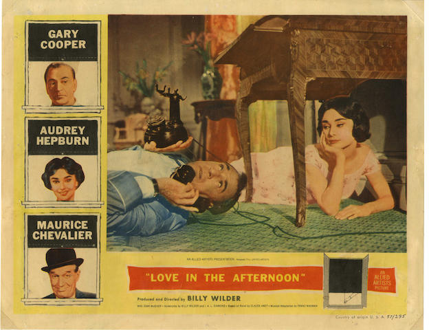 A collection of lobby cards,  titles including: