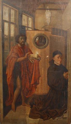 After Robert Campin, 19th Century  Heinrich von Werl and St. John the Baptist