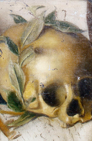 Dutch School, 18th Century Study of a skull