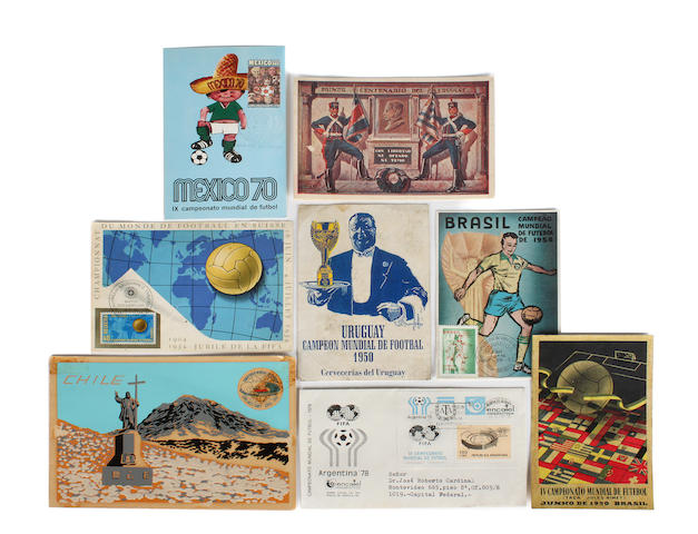 A collection of various World Cup's first day covers