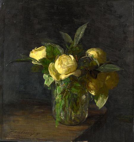 Henri Fantin-Latour (French, 1836-1904) Pivoines dans un vase