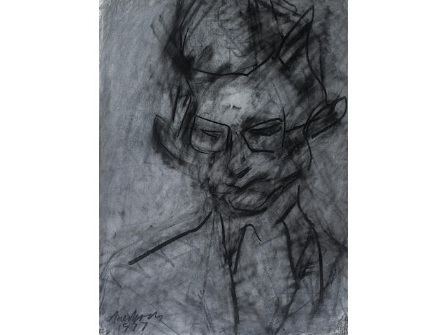 Frank Auerbach (German, born 1931) Portrait of Christopher Dark 73.7 x 55.9 cm. (29 x 22 in.)