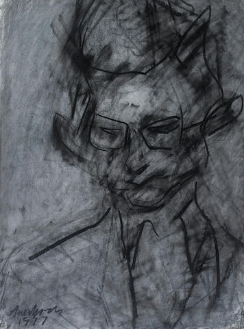 Frank Auerbach (British, born 1931) Portrait of Christopher Dark 73.7 x 55.9 cm. (29 x 22 in.)