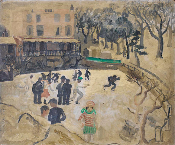 Christopher Wood (British, 1901-1930) Skating at Hampstead 46 x 55 cm. (18 x 22 in.)