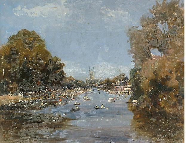 Campbell Archibald Mellon (British, 1876-1955) Sunday at ascot