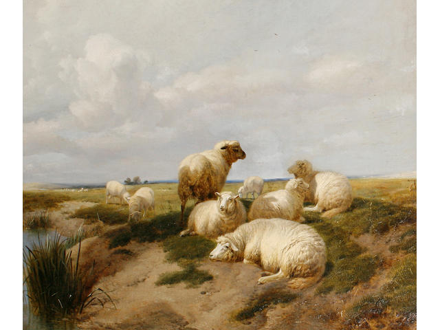 Thomas Sidney Cooper, RA (British, 1803-1902) Sheep resting in a landscape