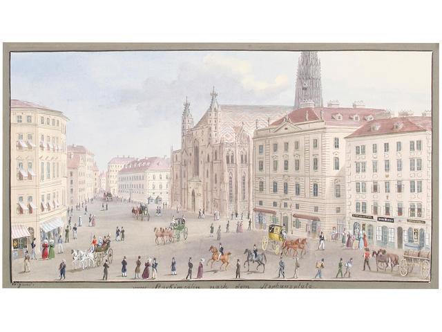 Balthasar Wigand (Austrian, 1771-1846) 'Vom Stockimeisen nach dem Stephansplatz' (image size)