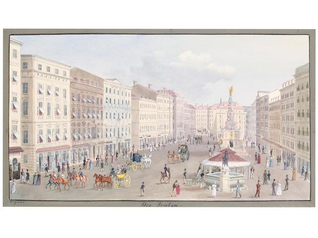 Balthasar Wigand (Austrian, 1771-1846) 'Der Graben' (image size)