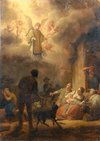 Claes Cornelisz. Moeyaert (Durgerdam 1591-1655 Amsterdam) The Annunciation to the Shepherds unframed