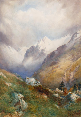 Edward Theodore Compton (British, 1849-1921) 'The Silberhorn, Switzerland'