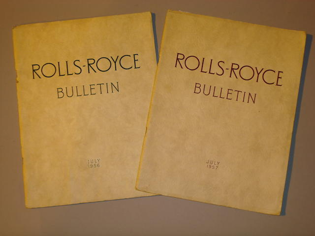 Two Rolls-Royce Bulletins,