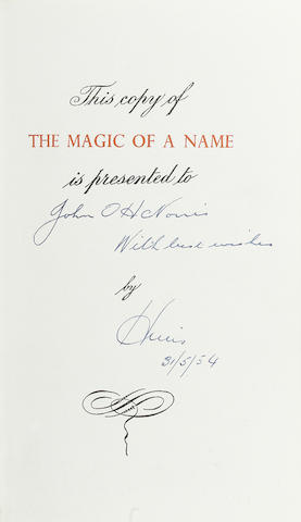 A rare Leather bound copy of Harold Nockolds: The Magic of a Name;