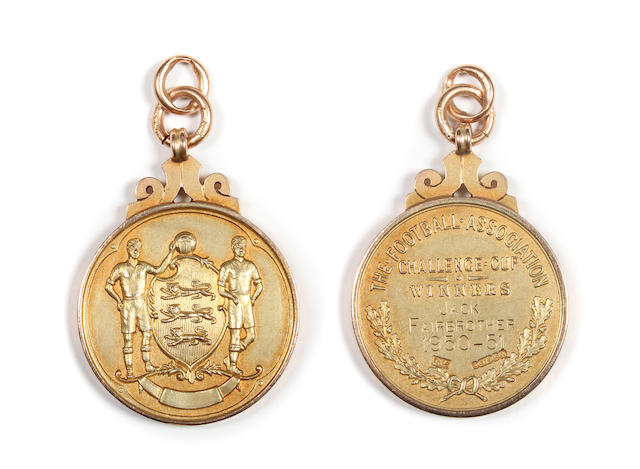 1951 F.A. Cup final winners medal presented to Newcastle's Jack Fairbrother