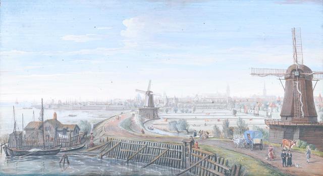Gaspar van Wittel, called Vanvitelli (Utrecht circa 1653-1736 Rome) An extensive view of Hoorn,