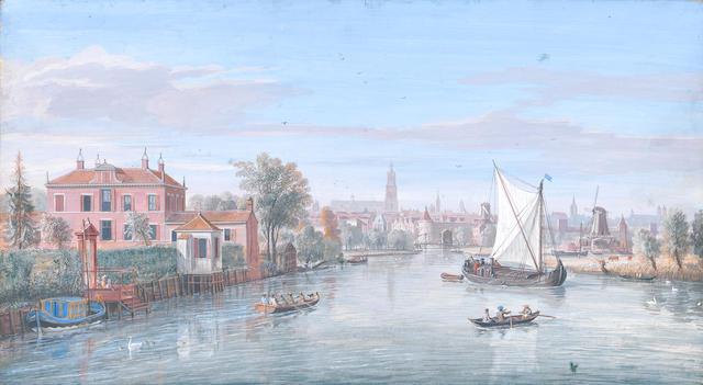 Gaspar van Wittel, called Vanvitelli (Utrecht circa 1653-1736 Rome) A view of Amersfoort from the north