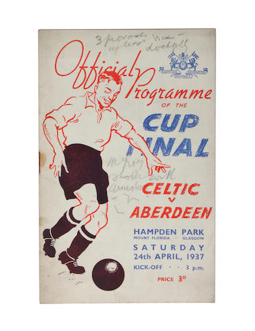 1937 Scottish Cup Final programme