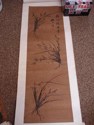 A collection of Chinese scroll paintings