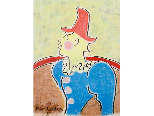 Jean Cocteau (French, 1889-1963) Le Clown au Chapeau Rouge