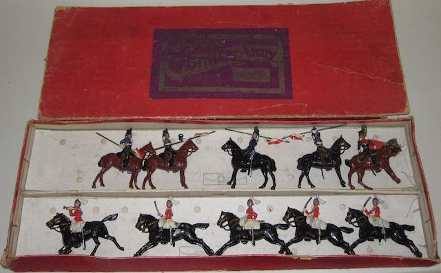 Britains set 52, two row British Cavalry Display