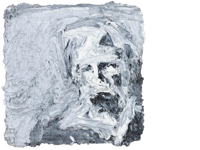 Frank Auerbach (German, born 1931) Head of E.O.W. III 31.7 x 30.5 cm. (12 1/2 x 12 in.)