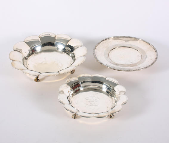 A silver dish By Thomas Bradbury and Sons, Sheffield, 1928,