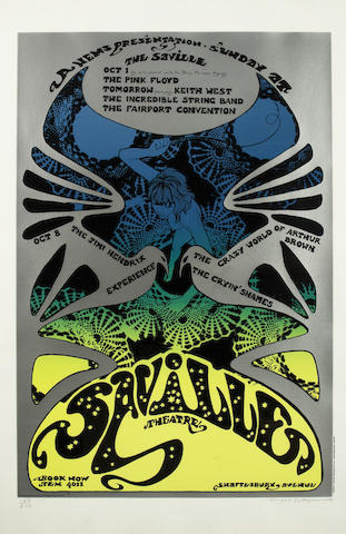 A set of six posters designed by Michael English and Nigel Waymouth, aka Hapshash And The Coloured Coat,