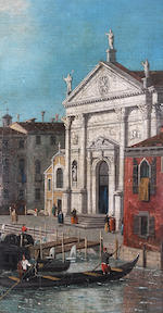 Follower of Antonio Canal, called il Canaletto (Venice 1697-1768) Gondolas on a canal, Venice,