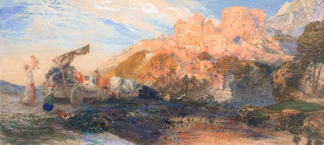 Samuel Palmer (British, 1805-1881) The harvesters return