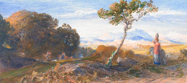 Samuel Palmer (British, 1805-1881), A chase in Venezia