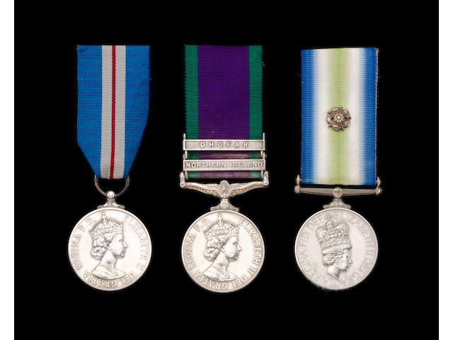 The Iranian Embassy Queen's Gallantry Medal group of three to Sergeant T.G.C.Palmer, Special Air Service, late Royal Engineers,