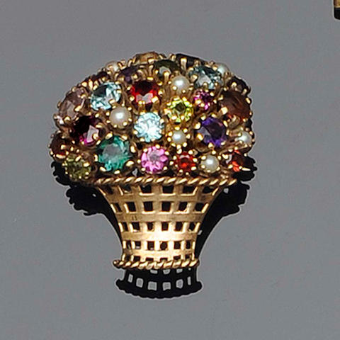 A multi gem set giardinetto brooch (2)