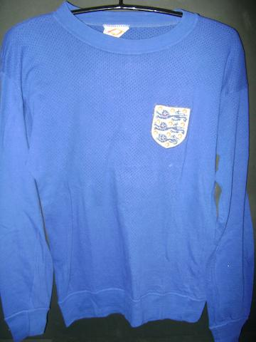 1970 World Cup Gordon Banks spare shirt