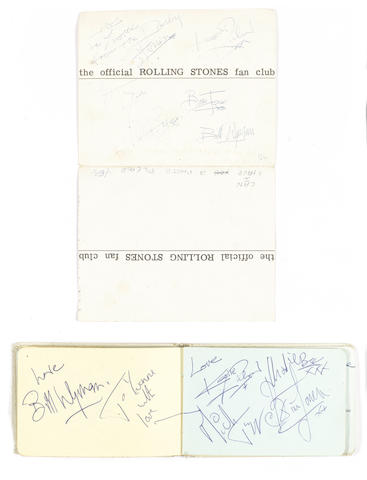 Rolling Stones autograph items, late 1963,