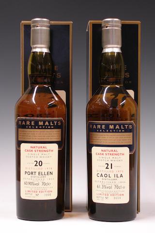 Port Ellen-20 year old-1978Caol Ila-21 year old-1975