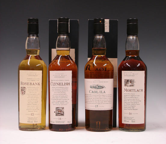 Rosebank-12 year old  Clynelish-14 year old  Caol Ila-15 year old  Mortlach-16 year old