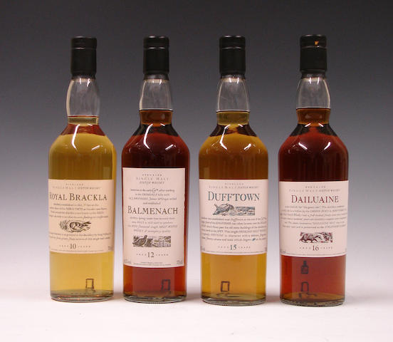 Royal Brackla-10 year old  Balmenach-12 year old  Dufftown-15 year old  Dailuaine-16 year old