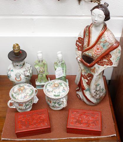 A quantity of Oriental ceramics