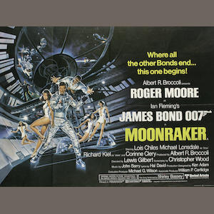 Eighteen Roger Moore as James Bond related film posters, titles comprising:18