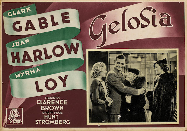 A collection Jean Harlow related Italian lobby cards,  including:
