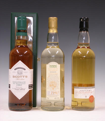 Linlithgow-1982Rosebank-8 year old-1990Rosebank-9 year old-1992