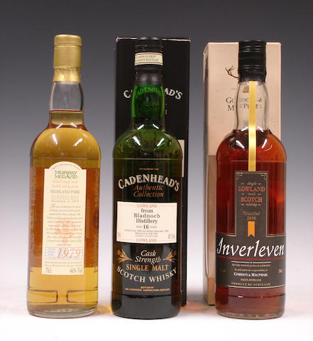 Bladnoch-16 year old-1980Highland Park-18 year old-1979Inverleven-1979