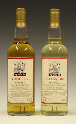 Caol Ila-18 year old-1974Dallas Dhu-19 year old-1974