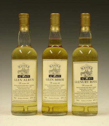 Glen Albyn-12 year old-1980  Glen Mhor-14 year old-1978  Glenury Royal-14 year old-1978