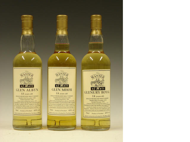 Glen Albyn-12 year old-1980Glen Mhor-14 year old-1978Glenury Royal-14 year old-1978
