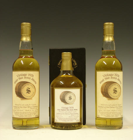 Glen Mhor-14 year old-1978  Glenury Royal-15 year old-1978  Dallas Dhu-18 year old-1974