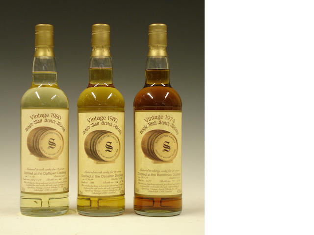 Dufftown-12 year old-1980Clynelish-14 year old-1980Benrinnes-20 year old-1974