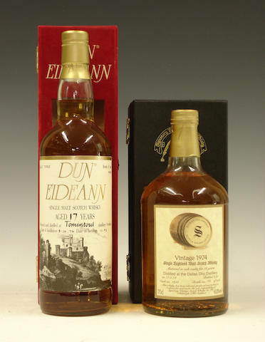 Tomintoul-17 year old-1976Dallas Dhu-18 year old-1974