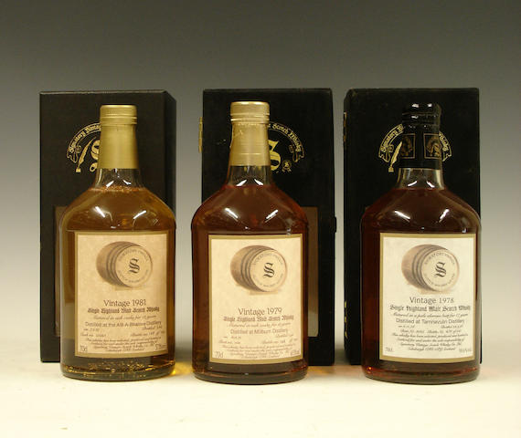 Allt-A-Bhainne-12 year old-1981  Millburn-16 year old-1979  Tamnavulin-17 year old-1978
