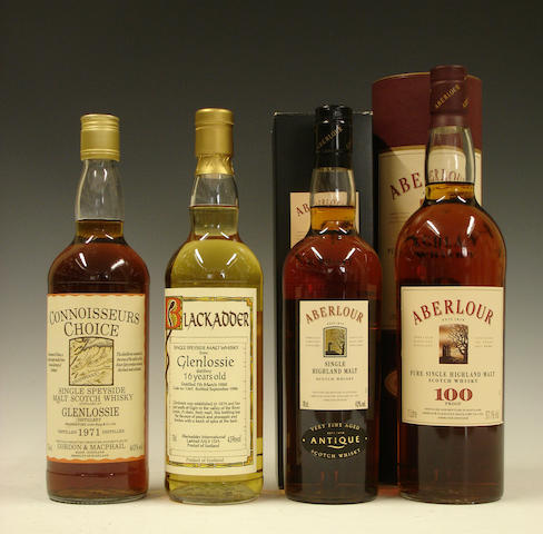 Glenlossie-1971  Glenlossie-16 year old-1980  Aberlour Antique  Aberlour Original Strength